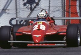 Didier Peroni driving the 126C2 in 1982