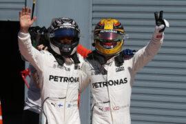 Formula One - Mercedes-AMG Petronas Motorsport, Italian GP 2017. Lewis Hamilton, Valtteri Bottas