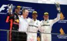 Podium Singapore GP 2017: 1. Lewis Hamilton 2. Valtteri Bottas 3. Daniel Ricciardo.