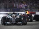 Formula One - Mercedes-AMG Petronas Motorsport, Singapore GP 2017. Lewis Hamilton & Daniel Ricciardo Red Bull Racing.