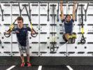 Daniil Kvyat & Carlos Sainz training at the gym before Italian GP F1/2017