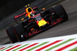 Max Verstappen Red Bull on track Monza Italian GP F1/2017