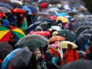Fans walking in the rain Monza Italian GP F1/2017