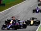 Cars on track at Monza Italian GP F1/2017