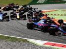 Cars on track Monza Italian GP F1/2017