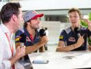 Carlos Sainz & Daniil Kvyat Toro Rosso Singapore GP F1 2017