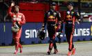 Sebastian Vettel, Daniel Ricciardo & Max Verstappen Singapore GP F1/2017