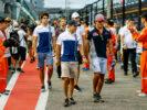 Felipe Massa, Carlos Sainz, Lance Stroll, Esteban Ocon & Romain Grosjean Singapore GP F1/2017