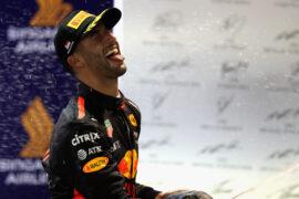 Daniel Ricciardo Red Bull 2nd place Singapore GP F1/2017