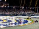 Cars on track Singapore GP F1/2017