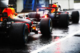Autodromo Nazionale di Monza, Italy. Saturday 02 September 2017. Max Verstappen, Red Bull Racing RB13 TAG Heuer, and Daniel Ricciardo, Red Bull Racing RB13 TAG Heuer, in the pits.