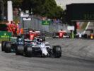Autodromo Nazionale di Monza, Italy. Sunday 3 September 2017. Lance Stroll, Williams FW40 Mercedes, leads Valtteri Bottas, Mercedes F1 W08 EQ Power+, and Kimi Raikkonen, Ferrari SF70H.