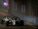 Marina Bay Circuit, Marina Bay, Singapore. Sunday 17 September 2017. Lance Stroll, Williams FW40 Mercedes, leads Felipe Massa, Williams FW40 Mercedes.