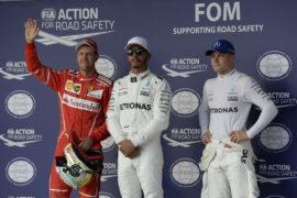 Lewis Hamilton, Sebastian Vettel and Valtteri Bottas GP USA F1/2017