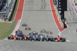 Drivers on track GP USA F1/2017