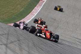 Kimi Raikonen Ferrari leading GP USA F1/2017
