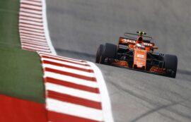 Circuit of the Americas, Austin, Texas, United States of America 2017. Stoffel Vandoorne, McLaren MCL32 Honda.
