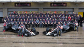 Haas team picture USGP F1/2017