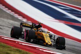 Carlos Sainz Jr (ESP) Renault Sport F1 Team RS17. United States Grand Prix 2017. Circuit of the Americas, Austin, Texas, USA.