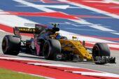 Carlos Sainz Jr (ESP) Renault Sport F1 Team RS17. United States Grand Prix, Sunday 22nd October 2017. Circuit of the Americas, Austin, Texas, USA.