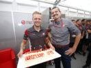 Kevin Magnussen Haas Birthday party at Suzuka Circuit, Japan. Thursday 05 October 2017.