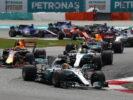 Formula One - Mercedes-AMG Petronas Motorsport, Malaysian GP 2017. Lewis Hamilton, Valtteri Bottas & Max Verstappen.