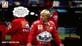 Mika Salo driving for Ferrari in 1999.