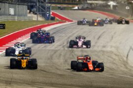 Drivers on track Circuit of the Americas, Austin, Texas, United States of America. Sunday 22 October 2017.