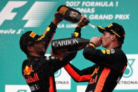 Max Verstappen & Daniel Ricciardo winners at Malaysian GP F1/2017