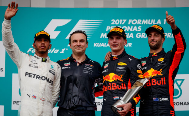Max verstappen, Lewis Hamilton & Daniel Ricciardo Malaysian GP F1/2017