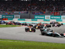 Drivers on track Lewis Hamilton is leading Malaysian GP F1/2017