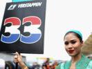 Pit girl Max Verstappen Malaysian GP F1/2017