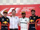 2017 Japanese GP podium: 1. Hamlton 2. Verstappen 3. Ricciardo