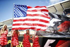 Pit girls USGP F1 2017 Circuit of the Americas, Austin, Texas, United States of America. Sunday 22 October 2017.