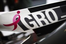 Romain Grosjean's car pink ribbon USGP F!/2017