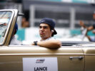 Sepang International Circuit, Sepang, Malaysia. Sunday 1 October 2017. Lance Stroll, Williams Martini Racing, in the drivers parade.
