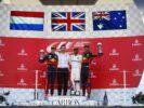 Winners Japanese GP F1 2017 Max Verstappen Lewis Hamilton & Daniel Ricciardo