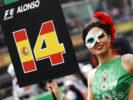 Autodromo Hermanos Rodriguez, Mexico City, Mexico. Sunday 29 October 2017. Grid Girl for Fernando Alonso, McLaren.