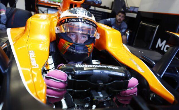 Circuit of the Americas, Austin, Texas, United States of America. Friday 20 October 2017. Stoffel Vandoorne, McLaren, in his cockpit.