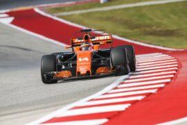 Circuit of the Americas, Austin, Texas, United States of America 2017. Fernando Alonso, McLaren MCL32 Honda.