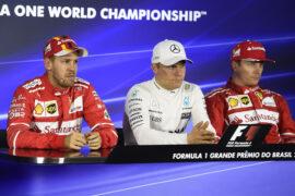 Sebastian Vettel, Valtteri Bottas & Kimi Raikkonen Brazilian GP F1/2017