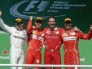Sebastian Vettel, Valtteri Bottas & Kimi Raikkonen on the podium Brazilian GP F1/2017
