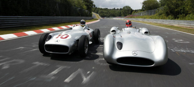 1954 The debut for the Silver Arrows of Mercedes