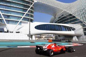 Kimi Raikkonen (FIN) Ferrari SF70-H at Formula One Testing, Day One, Yas Marina Circuit, Abu Dhabi, UAE, Tuesday 28 November 2017.