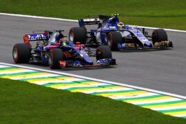 Brendon Hartley & Pierre Gasly Toro Rosso Brazilian GP F1/2017