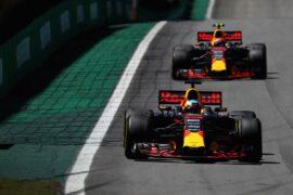Daniel Ricciardo & Max Verstappen Red Bull Brazilian GP F1/2017