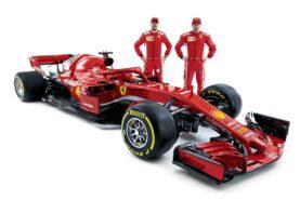 Sebastian Vettel & Kimi Raikkonen Ferrari SF71H 2018