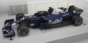 Red Bull RB14 left side view
