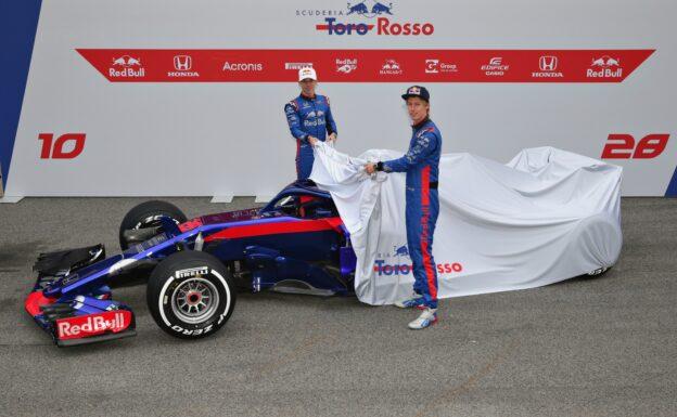 Brendon Hartley & Pierre Gasly Toro Rosso car launch 2018 STR13