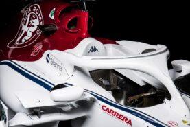 Sauber C37 Halo closeup view with poiler